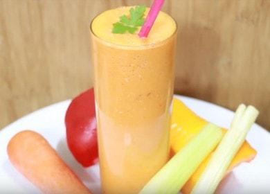 Готовим вкусный и полезный овощной смузи по рецепту с фото.