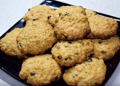 Готовим вкусное овсяное печенье с изюмом по рецепту с фото.