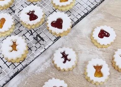 Готовим оригинальное праздничное печенье с джемом по рецепту с фото.