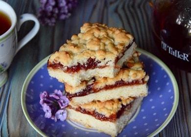 Тертый пирог Крошка с вареньем — вкус из детства