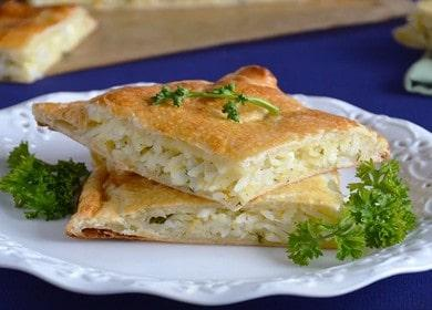Пирог с рисом и яйцом — очень сытный и вкусный рецепт