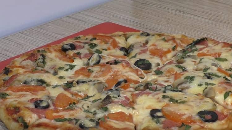 Пицца, рецепт который вы видите, просто не может не получиться.