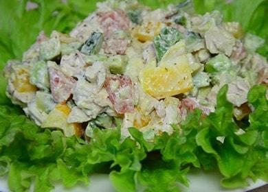 Нежный салат с авокадо и курицей: готовим по рецепту с фото.