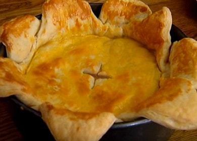 Готовим оригинальный слоеный пирог с мясом по рецепту с пошаговыми фото.