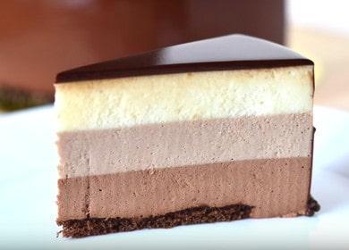 Муссовый торт «Три шоколада» — вкусный пошаговый рецепт с фото