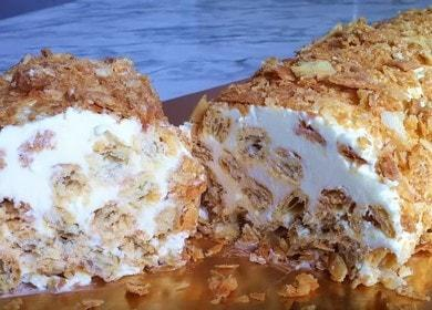 Готовим простой торт из слоеного теста со сгущенкой по рецепту с фото.
