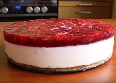 Готовим нежнейший творожный торт без выпечки с желатином по рецепту с фото.