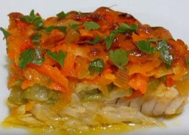 Филе трески с овощами, запеченная в духовке — вкусный и полезный рецепт