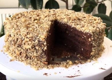 Готовим изысканный шоколадный торт с орехами по рецепту с фото.