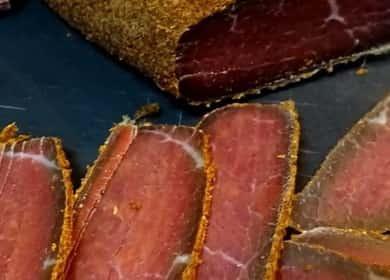 Бастурма из говядины — очень простой и вкусный рецепт