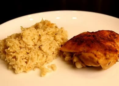 Рис с курицей в духовке по пошаговому рецепту с фото