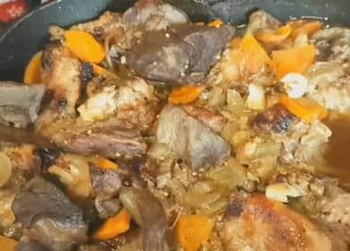 Очень вкусный и сочный тушеный кролик с овощами