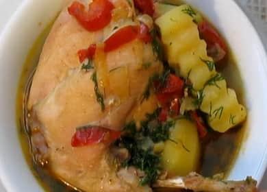 Кролик тушеный с овощами по пошаговому рецепту с фото