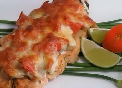 Рецепт нежнейшей горбуши с сыром и грибами, запеченной в духовке