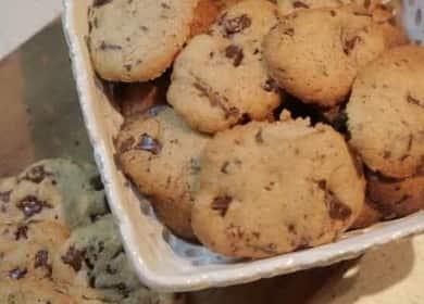 Классическое рецепт печенья с кусочками шоколада