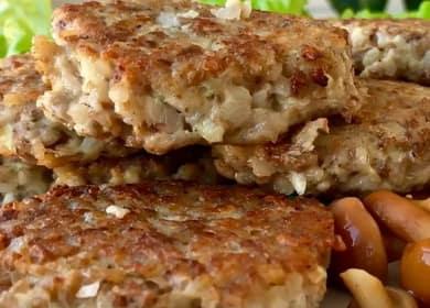 Котлеты из гречки по пошаговому рецепту с фото