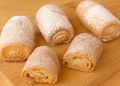 Простой рецепт вкусного печенья на сметане «Сахарные трубочки»