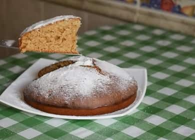 Пирог на кефире с вареньем — очень простая и вкусная выпечка