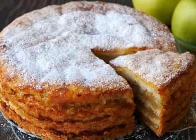Простейший насыпной яблочный пирог — проверенный годами рецепт