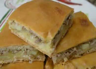 Пирог с рыбой и картошкой по пошаговому рецепту с фото