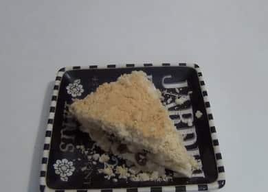 Насыпной пирог с творогом по пошаговому рецепту с фото