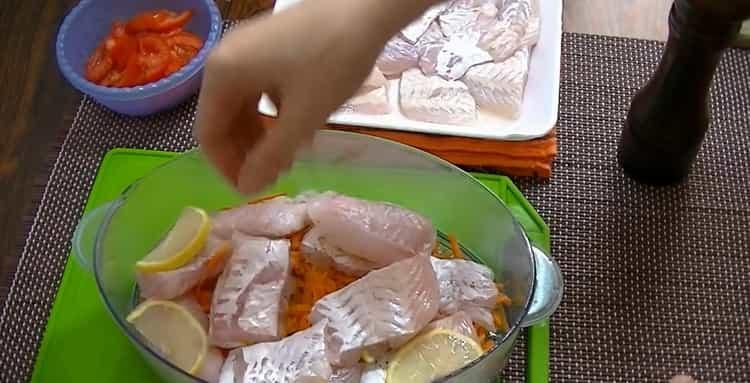 Для приготовления рыбы в пароварке. выложите лимон