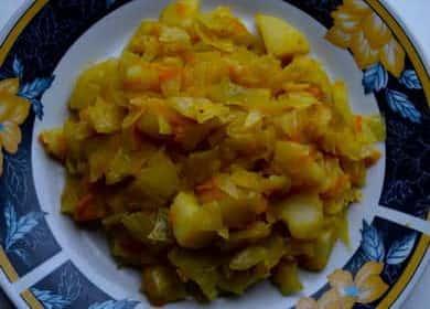 Тушеная капуста с картошкой по пошаговому рецепту с фото