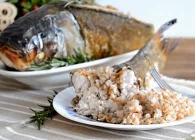 Фаршированный толстолобик, запеченный в духовке — праздничный рецепт