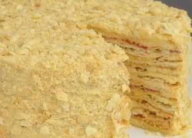 """Слоеный торт """"Степка-растрепка"""": пошаговый рецепт с фото"""