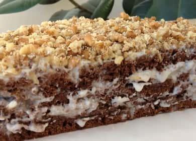 Шоколадный торт на кефире по пошаговому рецепту с фото