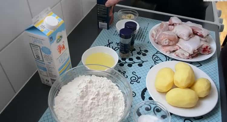 Для приготовления хинкала дагестанского, подготовьте ингредиенты