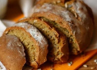 Хлеб на кефире без дрожжей по пошаговому рецепту с фото