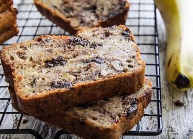 Лучший рецепт вкусного бананового хлеба с орехами