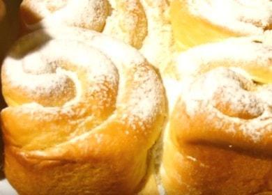 Готовим вкусные домашние булочки с начинкой по пошаговому рецепту с фото.
