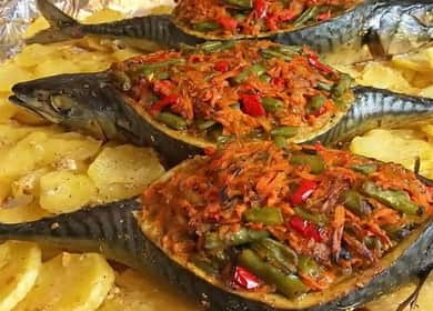 Вкуснейшая фаршированная скумбрия с овощами — праздничный рецепт