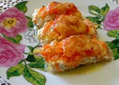 Очень вкусная горбуша с помидорами и сыром в духовке: готовим с пошаговыми фото.