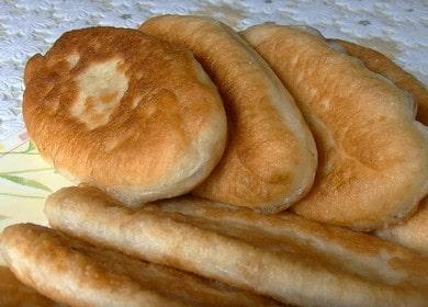 Готовим жареные пирожки с капустой по пошаговому рецепту с фото.