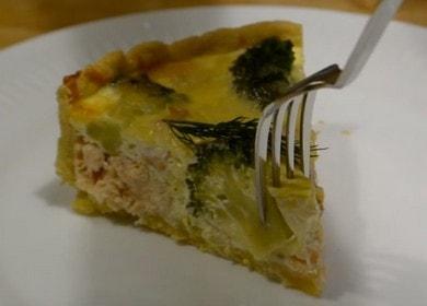 Киш с лососем — простой рецепт вкусного пирога