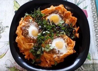 Вкуснейший ужин — Гнезда из макарон 🍝