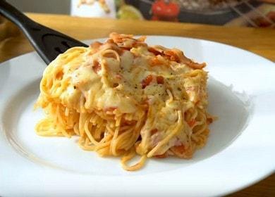 Готовим вкусные макароны с беконом по пошаговому рецепту с фото.