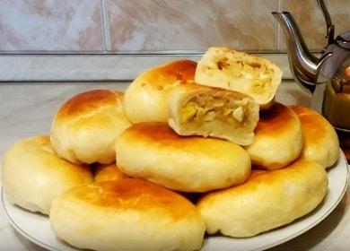 Готовим вкусные пирожки в духовке с капустой и яйцом по пошаговому рецепту с фото.