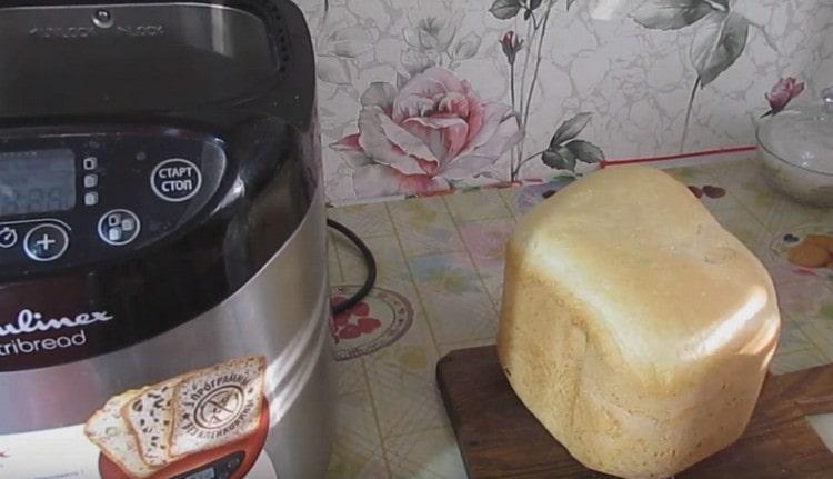Как видите, этот рецепт хлеба в хлебопечке Мулинекс предельно простой..