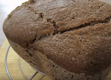 Вкусный цельнозерновой ржаной хлеб на закваске в хлебопечке