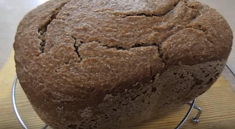 Ржаной хлеб на закваске в хлебопечке приготовить, как видите, несложно.