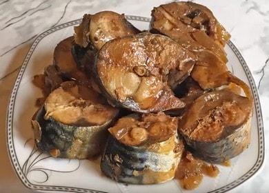 Тушеная скумбрия — изумительно вкусная рыба «Как консервы»