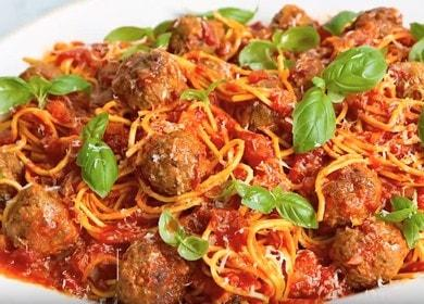 Готовим вкуснейшие спагетти с фрикадельками по пошаговому рецепту с фото.