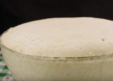 Готовим вкусное дрожжевое тесто для беляшей с мясом по рецепту с фото.