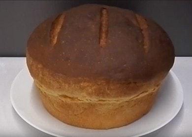 Выпекаем вкусный домашний хлеб на кефире по рецепту с фото.