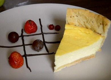 Чизкейк из творога и маскарпоне — очень нежный и вкусный десерт