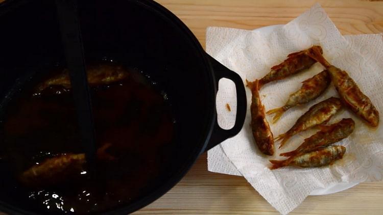 Для приготовления барабульки уберите лишний жир